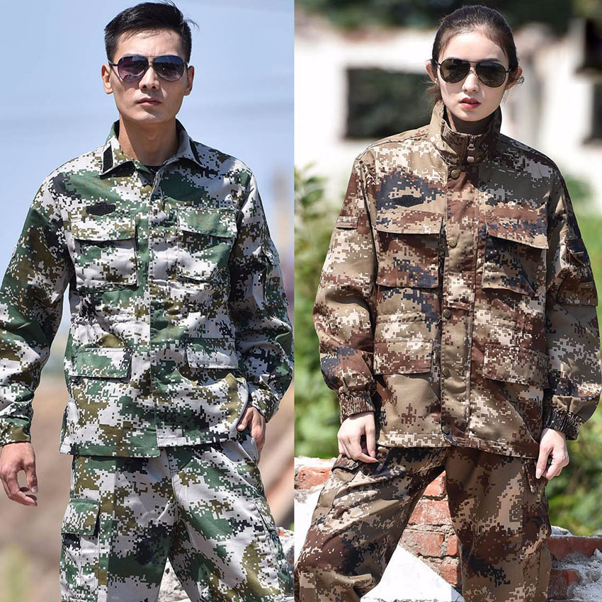 Unisex Desert Camouflage Military Uniform CS Game Airforce Clothing Set High Quality Army Suit Tactical Cargo Jackets