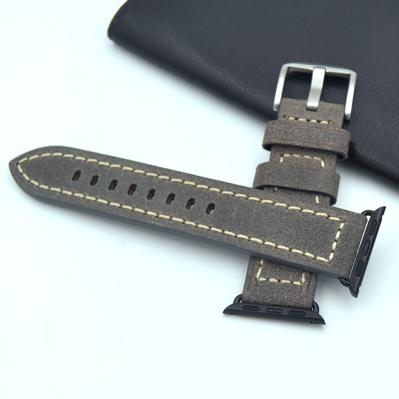 цена на Italian imports quality calfskin Fashion strap for apple watch Band Single Tour Genuine Leather Loop 42mm 38mm Straps 3 colors