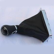 Cnwagner 12 мм хром отделки Шестерни рукоятка рычага переключения передач 5 Скорость кожаная ручка для VW Passat B6 01-05 3aa711113a