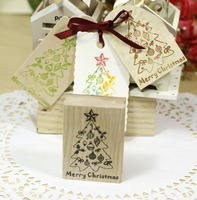 Merry Christmas Tree 5 7cm Tinta Sellos Craft Wooden Rubber Stamps For Scrapbooking Carimbo Timbri Stempel