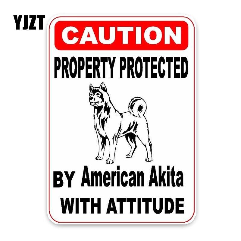 YJZT 11,4*16 см собственность, защищенная американской Акита, собака, щенок, украшение для домашних животных, модная наклейка для автомобиля