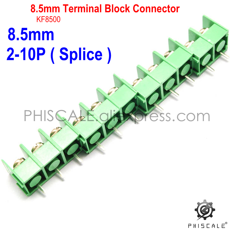 PHISCALE KF8500 2-10P 8.5mm Pitch PCB Screw Terminal Blocks Splice Connector 300V 20A 2/3/4/5/6/7/8/9/10/Pin