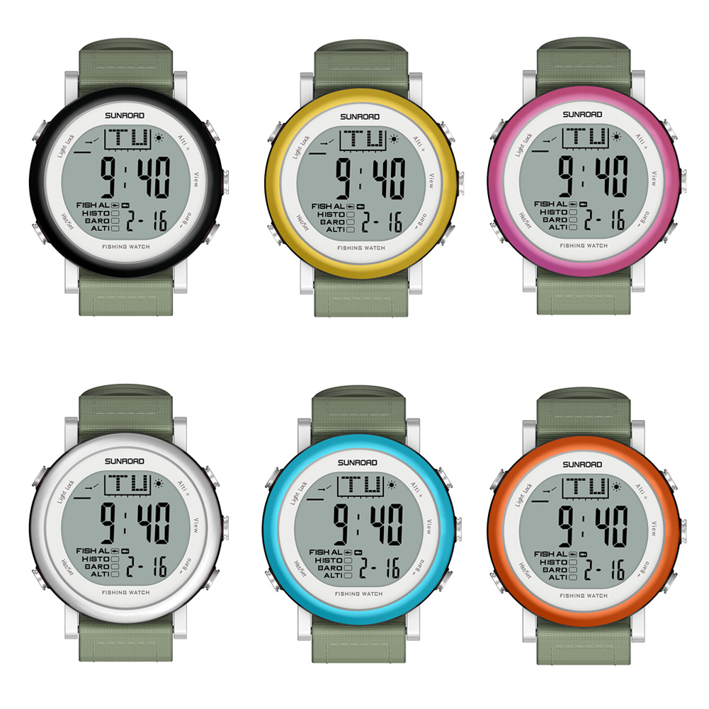 Practical Digital Waterproof Fishing Watch Barometer Altimeter Thermometer EL Background Light Button Sound Fishing Tools outdoor multifunction digital fishing barometer waterproof fishing watch barometer altimeter thermometer sports watch 6 colors
