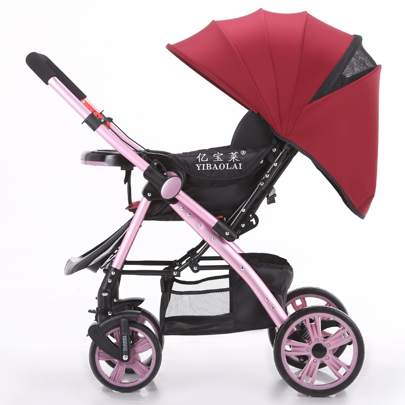 Ebola High Landscape Baby Stroller Can Sit Lie Ultra Portable Folding Umbrella Car Four Wheel Stroller