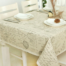 Array Print Decorative Table Cloth Cotton Linen Lace Tablecloth Dining Table Cover For Kitchen Home Decor