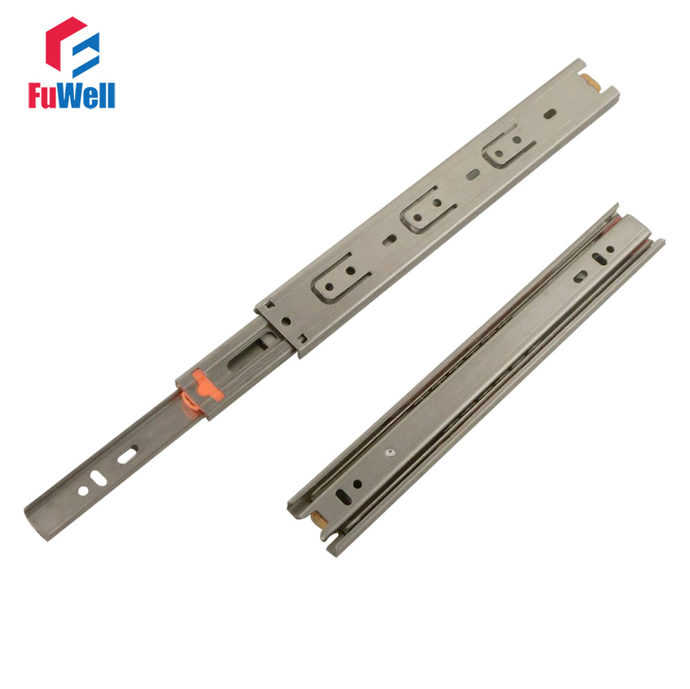 2pcs 12inch Drawer Slide 35mm Width Stainless Steel Fold Telescopic Ball Bearing Drawer Runner for Furniture Cabinet Sliding платье twin set simona barbieri twin set simona barbieri tw005ewzlx76