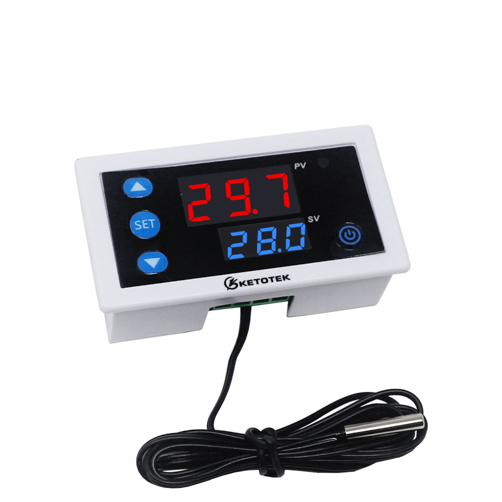 KT3003 12V <font><b>24V</b></font> 110V <font><b>220V</b></font> AC Digital Temperature Controller Thermostat Heating Cooling Switch <font><b>Relay</b></font> Output With NTC Sensor image