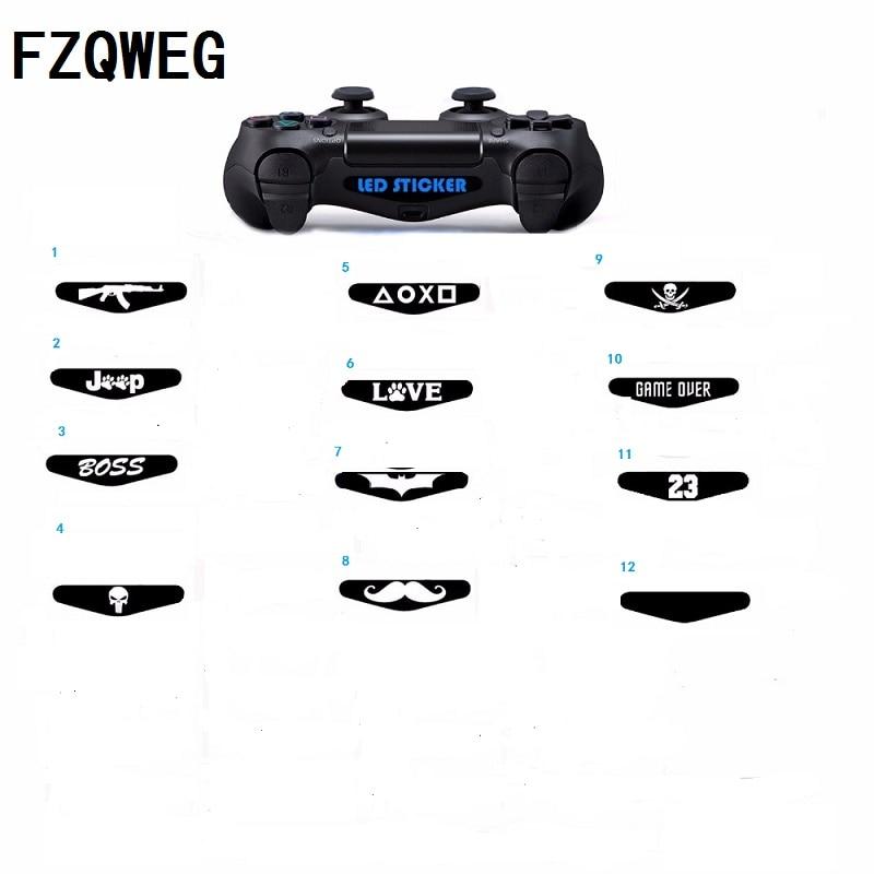 FZQWEG 2 pcs Video Game Controller Light Bar Lightbar Decal Sticker For PS4 Playstation 4 random number