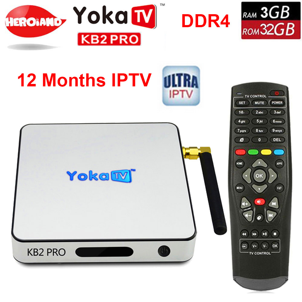 YOKA KB2 PRO Android 6.0 Octa Core 3GB 32GB smart TV Box Amlogic S912 for BT 4.0 Streaming Media Player set top box PK H96 PRO