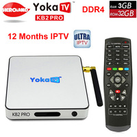 YOKA KB2 PRO Android 6.0 Octa Rdzeń 3 GB 32 GB smart TV Box Amlogic S912 dla BT 4.0 Streaming Media Player dekodera PK H96 PRO