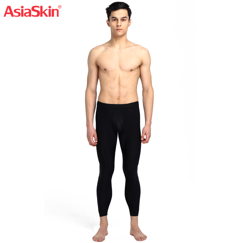 2017 Men Thermal Underwear Long Johns Ice Silk Slim Seamless 3D Mid Waist Invisible Mens Clothes