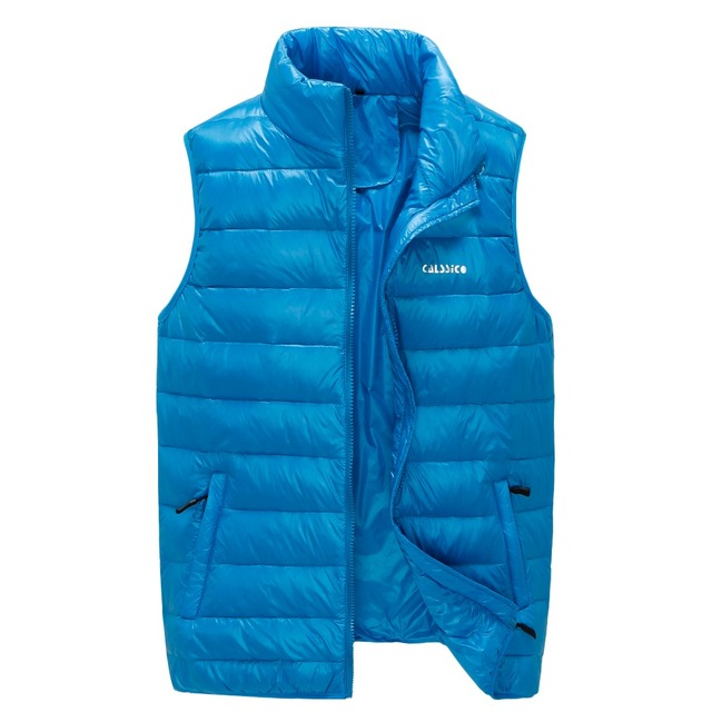 Hot sale men's  vests windproof and thermal down vest high quality