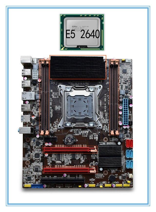 mainboard New motherboard X79 with E5 2640 cpu set Strong radiator support Ecc ram 4*RAM slots 32G LGA 2011 USB3. 0 DDR3. ATX