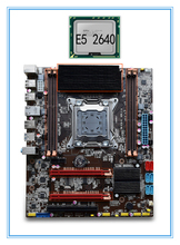 mainboard New motherboard X79 with E5 2640 cpu set Strong radiator support Ecc ram  4*RAM slots 32G LGA 2011 USB3. 0 DDR3. ATX