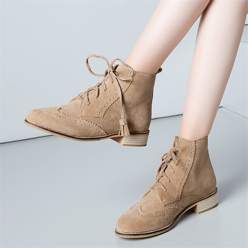 Size 34-43 European US style Vintage Martin ankle short boots genuine leather Casual Shoes women Fringe motorcycle snow boots women led light shoes casual shoes led luminous boots unisex genuine leather ankle boots women usb charging martin boots 35 46