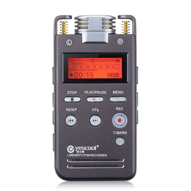 Yescool A5 8GB Metal Audio Video Recorder Professional Portable Digital Voice Recorder Rechargeable Meeting Training Class MP3 8gb 650hr usb жк экран digital audio voice recorder диктофон mp3 плеер