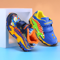 Dinoskulls Boys LED Shoes 3D Dinosaur Light Up Kids Sneakers Autumn Fashion Children Trainers 2019 Winter Fleece Baby Shoes