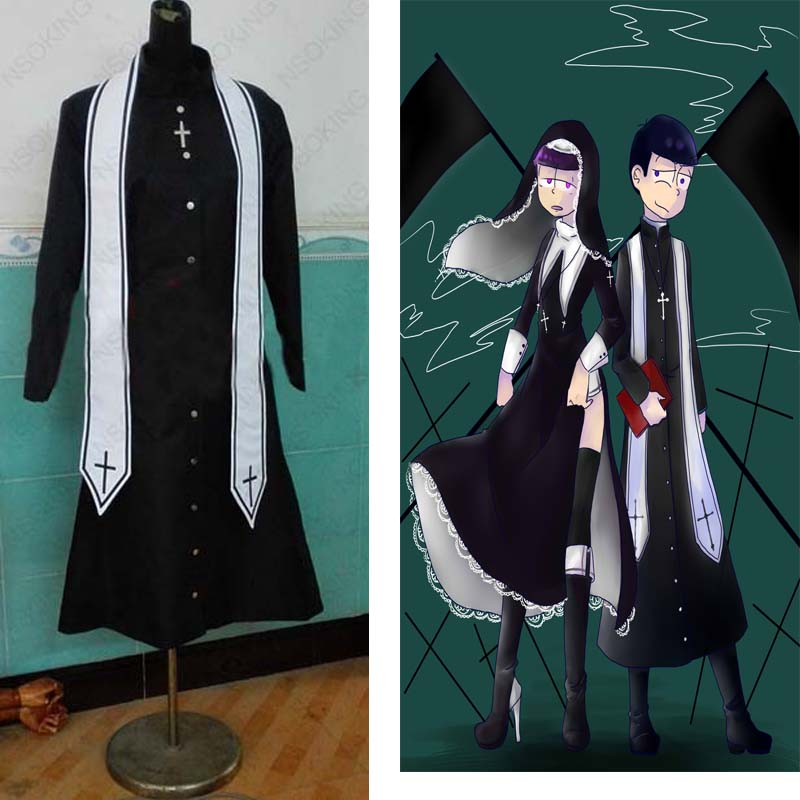 Anime Osomatsu-san KARAMATSU Priest Cosplay Costume Custom-made