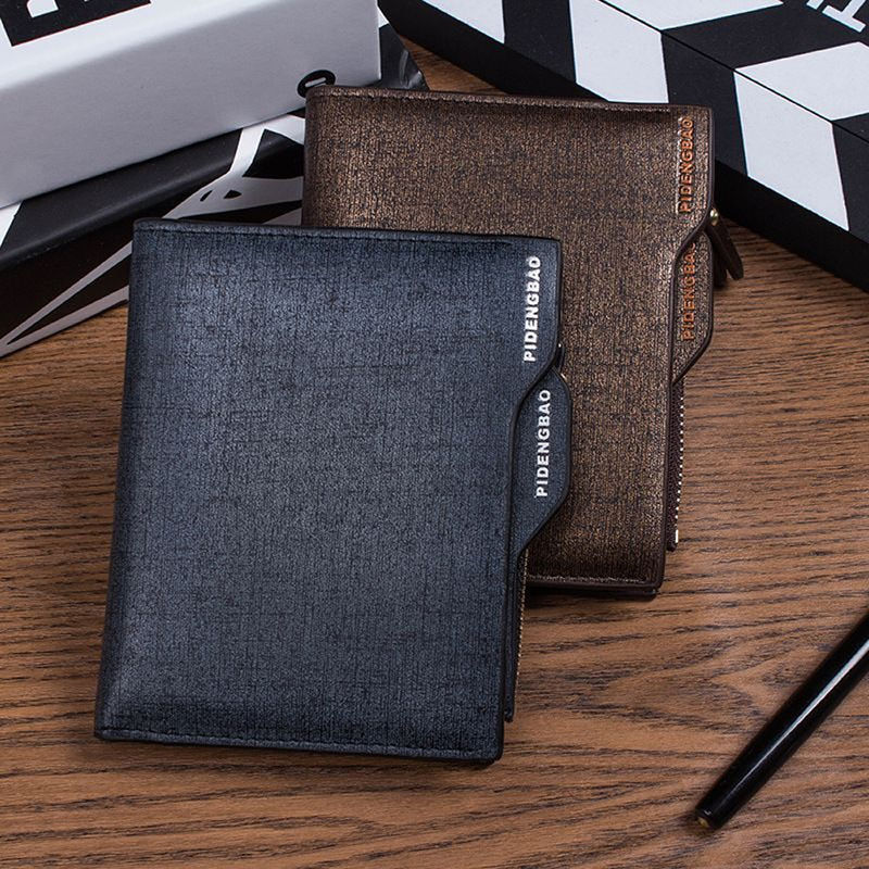Fashion High Quality Hot Sale Solid  Short Men PU  Leather ID credit Card holder Clutch Bifold Coin Purse Case Wallet Pockets new men genuine wallet fashion casual pu credit id card holder purse wallet long business male clutch hot selling 2016