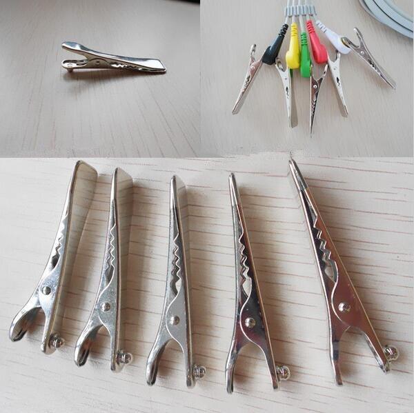 5 pcs Clip en métal vétérinaires ECG plat clamp snap connexion à ECG câble