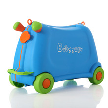 Box Suitcase Luggage Kids Children Travel Lovely Boy Sit Girl And Bear-50kg Toy Pull-Rod-Box