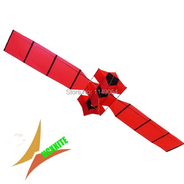 Alta calidad del envío 3d satélite con mango línea paraquedas suave cometa volando dragón chino kite hcxkite fábrica