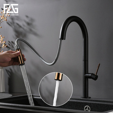 FLG Kitchen Faucets Single Handle Swivel 360 Rotation Black White Gold Cold and Hot Water Cozinha Torneira Mixer Tap1074