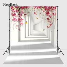 Neoback белый винил стены Бабочка Цветочный Сад фотографии фонов Для детей фотостудии фото фон p1058