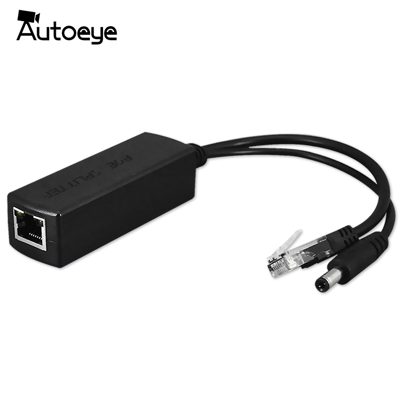 Autoeye DC 48V To 12V POE Adapter Injector POE Splitter Connector IEEE802.3af 10/100M For IP Camera VoIP Phone AP 15.4W Output