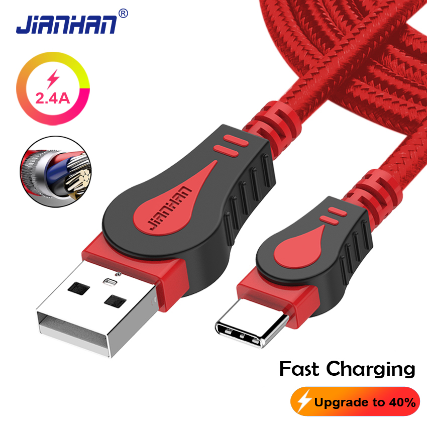 USB C Cable type c Data Fast charging cable tipo Type-C For Samsung Galaxy Note 9 xiaomi mi a2 Charger usb-c Braid For Xiaomi LG
