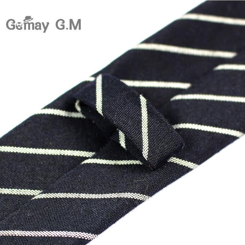 Divat alkalmi pamut kockás csíkos férfi nyakkendők 6cm keskeny - Ruházati kiegészítők - Fénykép 4
