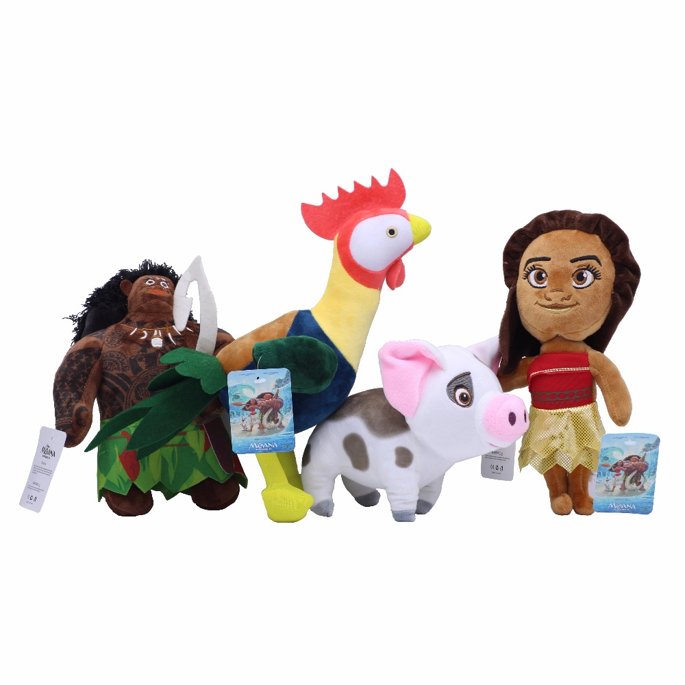 20cm Vaiana Plush Toys Movie Moana Princess Maui Moyana Hei Pua Pig Stuffed Doll For Kids Gifts