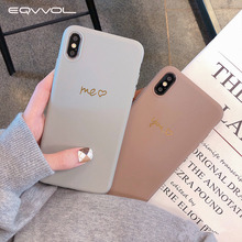 Eqvvol oro nuevo funda de amor corazón para iPhone 8 7 Plus 6 6S suave TPU letra caso para iPhone X XS Max XR a prueba de golpes contraportada Coque