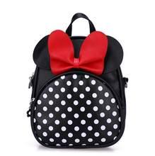 57e3aee73c9f 2019 de moda Minnie forma Kindergarten mochila niños bolsa de PU de calidad pequeñas  bolsas para la escuela de niñas de 3-6 pree.