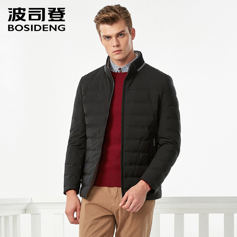 BOSIDENG winter business casual   down   jacket standing collar warm jacket short outerwear high quality   down     coat   for men B70141003