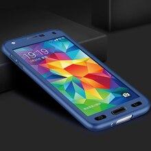 360 Tam Koruyucu samsung kılıfı Galaxy S5 Case Sert Kabuk Kapak Mat samsung kılıfı S5 S5 Neo Kılıf Kapak + Temperli Cam