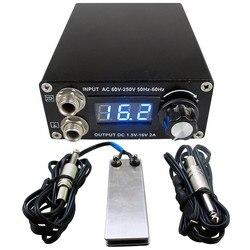 Profissional digital dupla tatuagem preta kit de alimentação com 1pcs pedal interruptor & 1pcs clipe cabo frete grátis