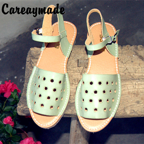 Careaymade Clearance sale Summer retro tide small fresh female sandals shoes hole shoes Korean trade department mori girl shoes