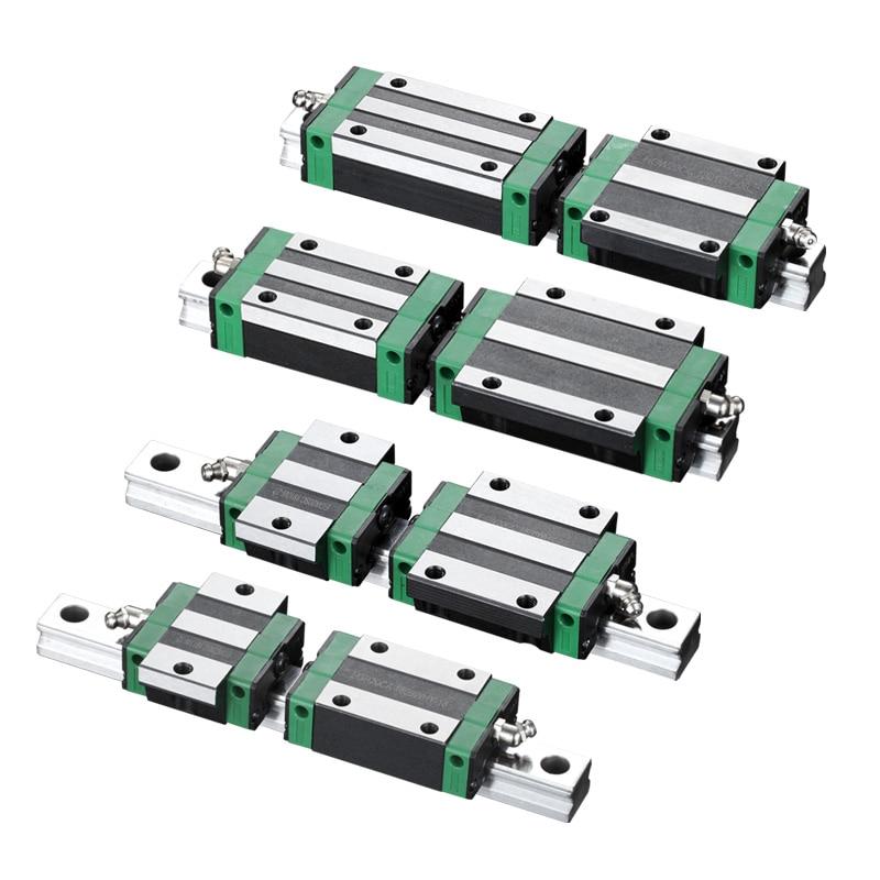 KGT HGW15 HGW20 HGW25 HGW30 L 100 200 300 400 500 600 800mm Heavy Linear Rail Slide 1pc HG15 Linear Guide 1pc HGW15 Carriage CNC