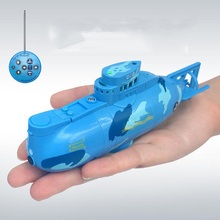 RC Boat Mini Submarine Remote Control Boat Electric High Speed Submarine Warship Nautical Model USB Charging Children's Toys pilotage mini submarine серая rc13688