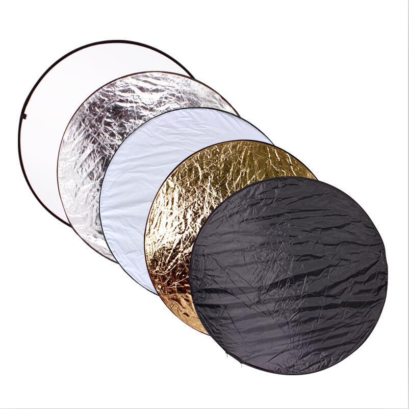 Портативный складной круглый отражатель для фотосъемки CY, 32 дюйма, 80 см, 5 в 1, аксессуары для фотостудии