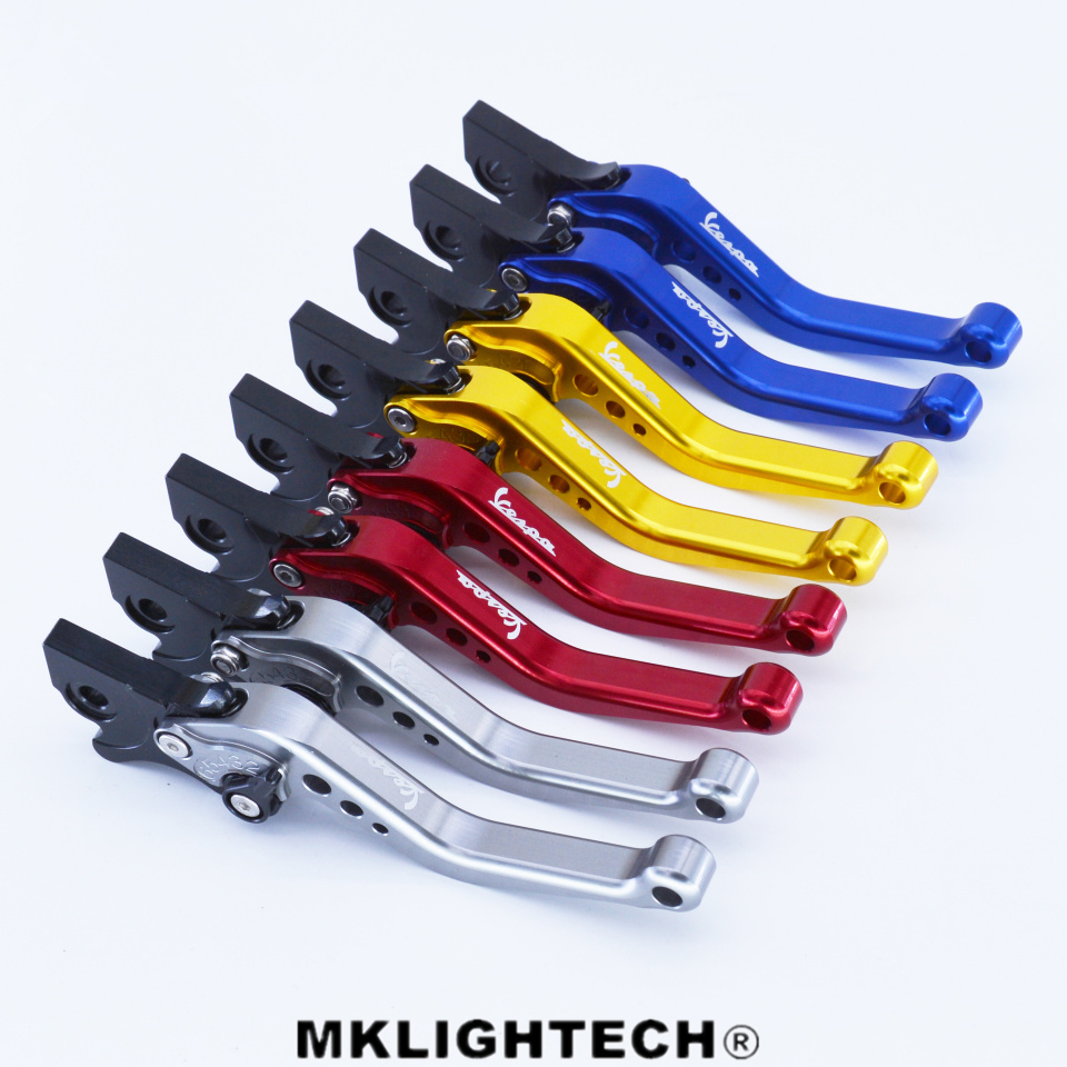 MKLIGHTECH CNC Aluminum Adjustable Motorcycles Brake Clutch Lever For Vespa