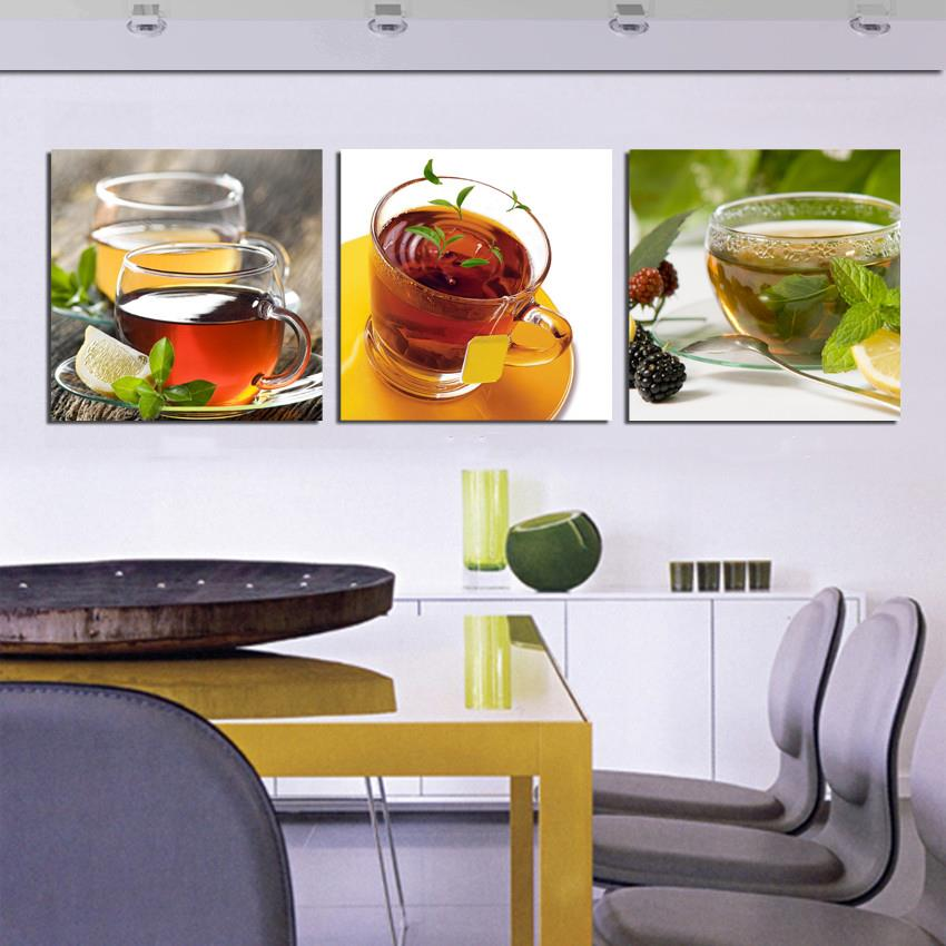 Cheap Kitchen Decor: Cheap Hot Kitchen 3 Piece Canvas Wall Art Modern Coffee