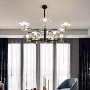 Image 2 - Postmoderne Led Kroonluchter Verlichting Iron Dining Lampen Luxe Deco Armaturen Woonkamer Hanger Armaturen Slaapkamer Opknoping Lichten