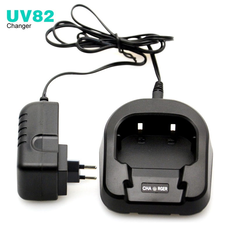 CH-8 Li-ion Battery Desktop Charger For Baofeng UV-82 UV-89 UV-8D Radio Walkie Talkie Accessories EU Or US 100-240V
