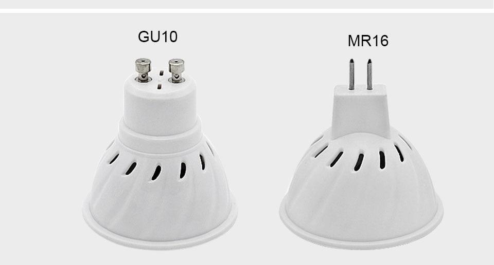 GU5.3 GU10 MR16 220V Lampada LED Spotlight 4W 5W 6W 7W 8W LED Lamp Light LED Bulb Table Downlight Ceiling Light Warm White Lamp (19)