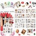 BeautyNailArt 50 Hoja/lot Hepburn y Marilyn Monroe tatuajes de Agua Pegatinas de Uñas de Arte de Uñas Accesorios de uñas herramienta