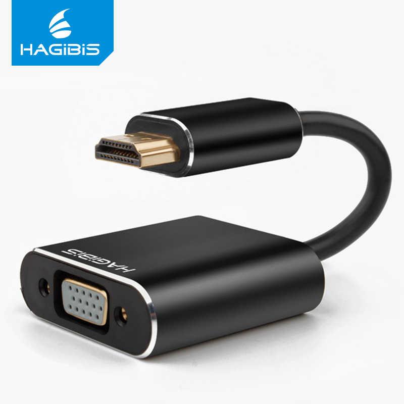 Hagибис HDMI в VGA конвертер адаптер цифро-Видео Аудио кабель HDMI VGA разъем для Mi box PS4 ПК ноутбук ТВ коробка 16 см