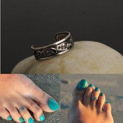 Sıcak Satış Antik Gümüş Kaplama Halhal Halhal Ayarlanabilir Açık Halka Kadınlar Vintage ayak baş parmağı yüzüğü Çok göbek takısı bacak üzerinde