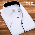 Camisa Special Offer New Men Clothes Vetement Homme 2016 Summer Thin Male Short-sleeve Shirt Business Casual Easy Care Slim
